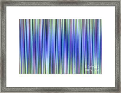 Framed Print featuring the digital art Lines 103 by Bruce Stanfield