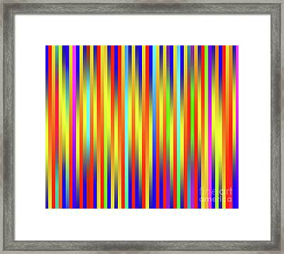 Framed Print featuring the digital art Lines 17 by Bruce Stanfield