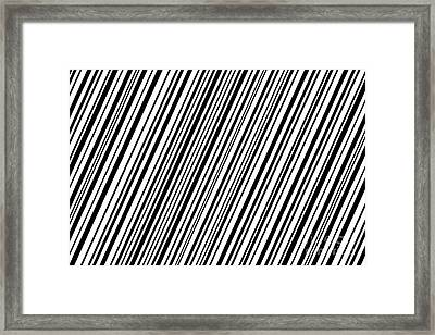 Framed Print featuring the digital art Lines 7 Diag by Bruce Stanfield