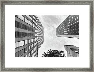 Framed Print featuring the photograph Lines All The Way Up by Lora Lee Chapman