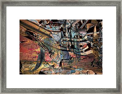 Lines And Colors Framed Print by Don Gradner