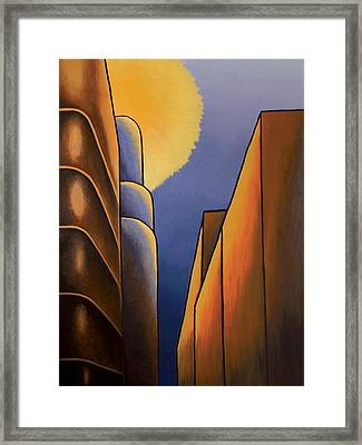 Lines And Curves Framed Print by Duane Gordon
