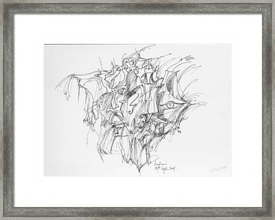 Lines And Forms Framed Print by Padamvir Singh