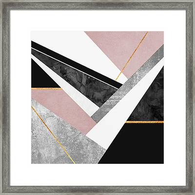 Lines And Layers Framed Print