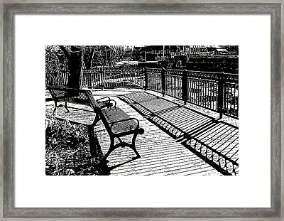 Lines And Light Framed Print