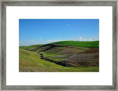 Lines And Shapes Framed Print by Kathy Yates