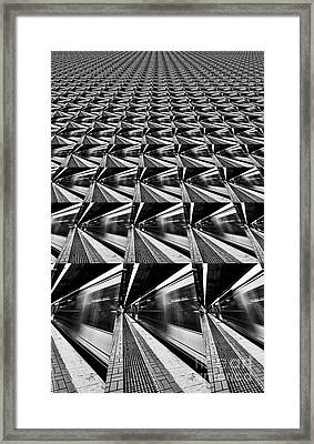 Lines Angles Abstract By Kaye Menner Framed Print by Kaye Menner