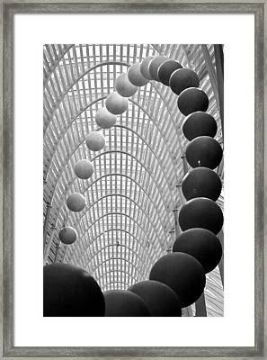 Lines Arcs And Spheres Framed Print