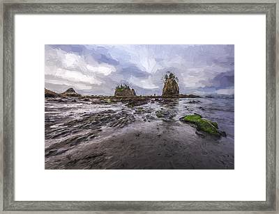 Lines At The Shore II Framed Print by Jon Glaser