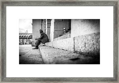 Lines - Dublin, Ireland - Black And White Street Photography Framed Print by Giuseppe Milo