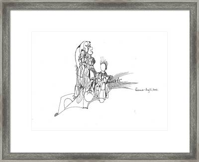 Lines Faces And Forms Framed Print by Padamvir Singh