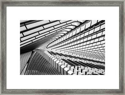 Lines In Liege Framed Print by Jeroen Van De Wiel