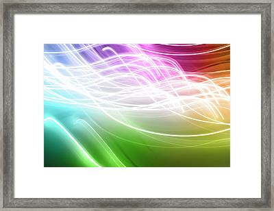 Lines In Motion Framed Print by Les Cunliffe