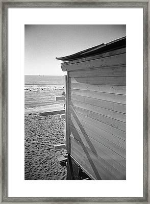 Lines In Ostia Beach Framed Print