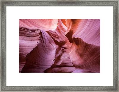 Lines In The Canyon Framed Print