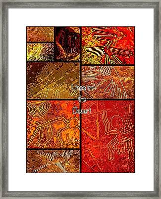 Lines In The Desert Framed Print