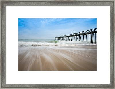 Outer Banks North Carolina Pier  Framed Print