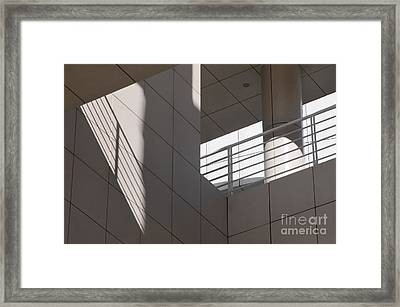 Lines Light Pillar Framed Print
