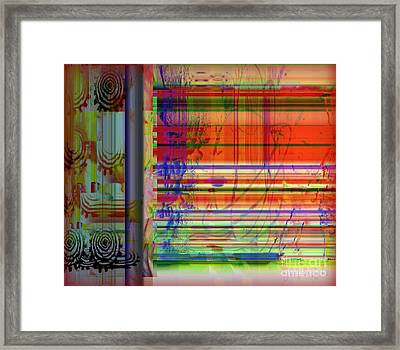 Lines Of Illusion Framed Print by Fania Simon