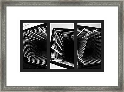 Lines Of Light Triptych Framed Print by Jessica Jenney