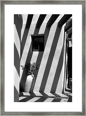 Lines Of Shadows Framed Print by Cathy Gregg