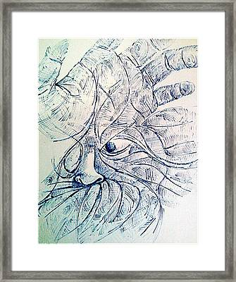 Lines Of The Hands Framed Print