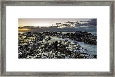 Lines Of Time Framed Print by Mark Lucey
