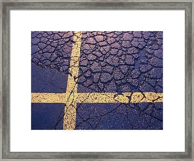 Lines On Asphalt I Framed Print by Anna Villarreal Garbis