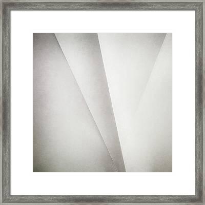 Lines On Paper Framed Print