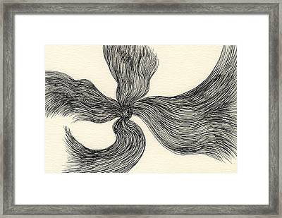 Lines - #ss13dw023 Framed Print by Satomi Sugimoto