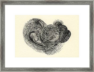 Lines - #ss13dw024 Framed Print by Satomi Sugimoto