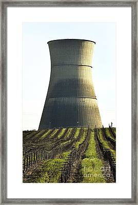 Lines To Power Tower Framed Print