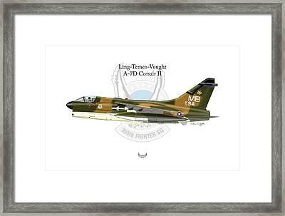 Ling-temco-vaught A-7d Corsair Framed Print