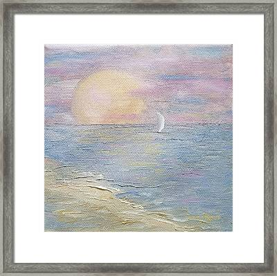Framed Print featuring the painting Lingering Freedom by Judith Rhue