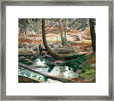 Lingle Stream Framed Print by Jeff Mathison