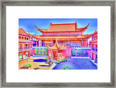 Lingyen Mountain Temple 12 Framed Print by Lawrence Christopher