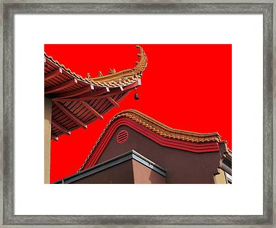 Lingyen Mountain Temple 38 Framed Print by Lawrence Christopher