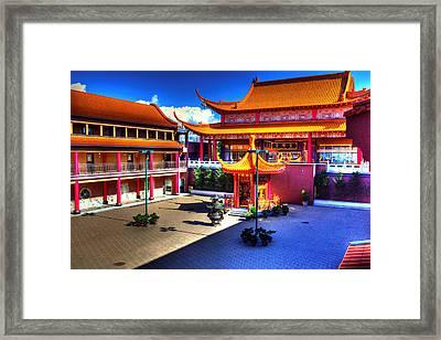 Lingyen Mountain Temple 8 Framed Print by Lawrence Christopher