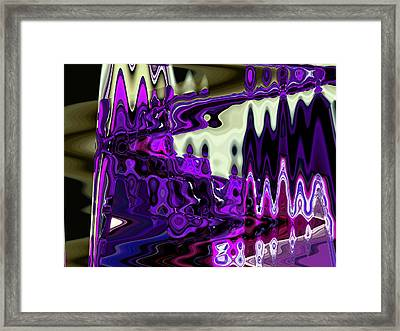 Lining Up At Heavens Gate Framed Print