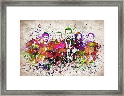 Linkin Park In Color Framed Print