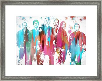 Linkin Park Watercolor Paint Splatter Framed Print