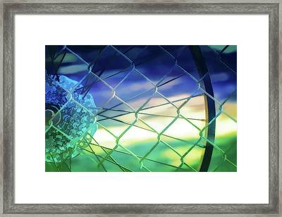 Links And Spokes Framed Print