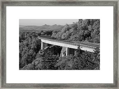 Linn Cove Viaduct Black And White Framed Print