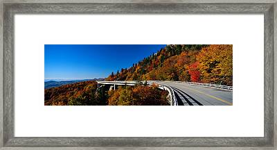 Linn Cove Viaduct Blue Ridge Parkway Nc Framed Print by Panoramic Images