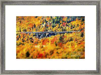 Linn Cove Viaduct Framed Print by Darren Fisher