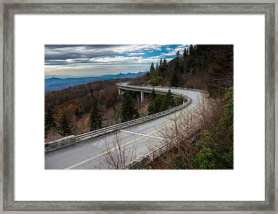 Linn Cove Viaduct Late Fall Framed Print