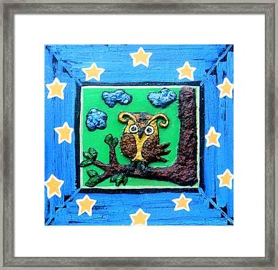 Lint Owl Framed Print