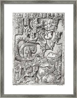 Lintel 25 Of Yaxchilan Structure 23 Framed Print