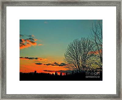 Linvilla Sunset Framed Print