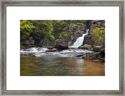 Linville Falls Basin Framed Print